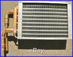 10x12 Aluminum Fin Copper Tube Air Water Heat Exchanger Wood Furnace Boiler