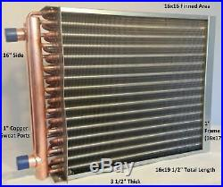 16x16 Water to Air Heat Exchanger1 Copper Ports with EZ Install Front Flange
