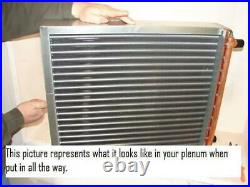 16x20 Water to Air Heat Exchanger 1 Copper Ports with install kit
