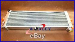 24x8x2.5 inch Universal alloy Heat Exchanger Air to Water Intercooler + fans