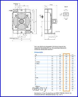 AKG 5210.224.0000 Fan Oil/air heat exchanger T10 + motor 5.5kW NEW NMP