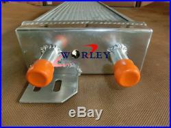 Air to Water Aluminum Liquid Heat Exchanger Intercooler + 2 fans