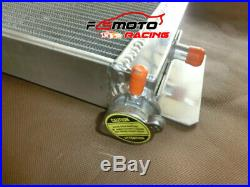 Air to Water Intercooler Aluminum Heat Exchanger Radiator universal + Fans