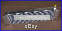 Air to water Alloy Intercooler liquid heat exchanger+Fans for Holden Landcruiser