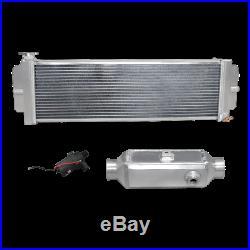 CXR Aluminum Barrel Style Liquid to Air Intercooler Heat Exchanger Water Pump