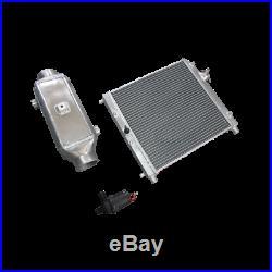 CXRacing 5x5x15 Liquid to Air Intercooler + 2 Row Heat Exchanger + Water Pump