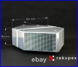 HCounterFlow heat recovery ventilation air exchanger 370m3, recuperator eff. 96%