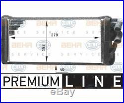 HELLA Heat Exchanger, interior heating BEHR HELLA SERVICE PREMIUM LINE 8