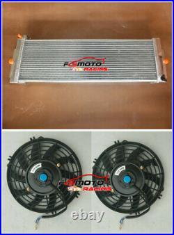 Heat Exchanger Air to Water Intercooler + Fans Cobalt Mustang 24x8x2.5