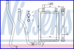 Heater Matrix Core 70979 DODGE CHALLENGER coupe 6.4 SRT8 CHARGER 3.6 LHD