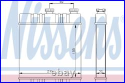 Heater Matrix Core 72660 OPEL ZAFIRA B 1.6 CNG Turbo 1.7 CDTI 1.8 1.9 2.0 LHD
