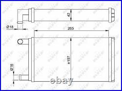 Heizung Kühler Tauscher Einheit für Mercedes Benz Puch G Klasse W460 NRF
