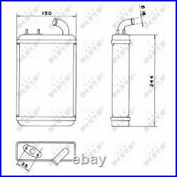 Innenraumheizung Wärmetauscher Heizungskühler Heizung FIAT 127 71- NRF