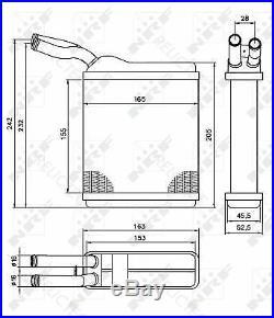 Interior Heater Matrix Heat Exchanger Vauxhall OpelFRONTERA Mk I 1 1806125