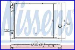 Kühler Motorkühlung Für Bmw 7 E65 E66 E67 N62 B40 A N62 B48 B N62 B36 A Nissens