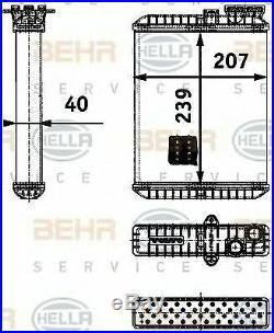 MAHLE BEHR Interior heat exchanger PREMIUM LINE AH90000P