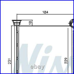 NISSENS Heater Radiator Matrix 72987 FOR C4 DS4 DS4/DS4 Crossback Genuine Top Qu