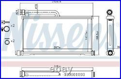 NISSENS Interior Heater Matrix 70233