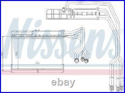 NISSENS Interior Heater Matrix 70506