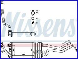 NISSENS Interior Heater Matrix 70980 (3 Year Guarantee)