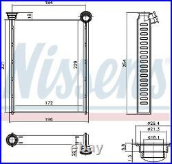 NISSENS Interior Heater Matrix 72987