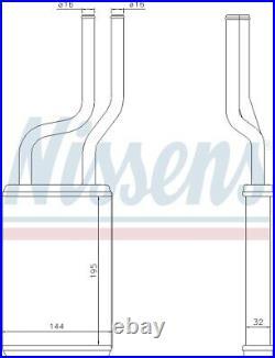 Nissens 73457 Interior Heater Matrix Next working day to UK