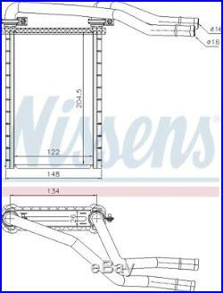 Nissens 73991 Interior Heater Matrix Next working day to UK
