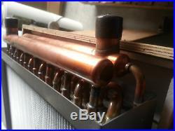 Outdoor Wood Furnace Boiler Water to Air Heat Exchanger 12X18 american royal