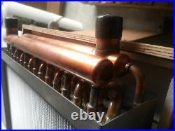 Outdoor Wood Furnace Boiler Water to Air Heat Exchanger 15X15 american royal