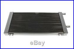 PLM Universal Aluminum Liquid Heat Exchanger Air To Water Intercooler BLACK