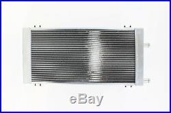 PLM Universal Aluminum Liquid Heat Exchanger Air To Water Intercooler SILVER