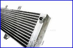 PLM Universal Aluminum Liquid Heat Exchanger Air To Water Intercooler Silver NPT