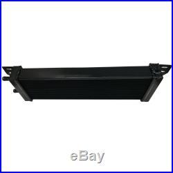 Universal Air to Water Intercooler Aluminum Liquid Heat Exchanger Black