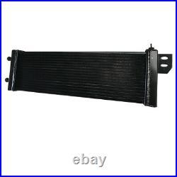 Universal Air to Water Intercooler Aluminum Radiator Liquid Heat Exchanger Black