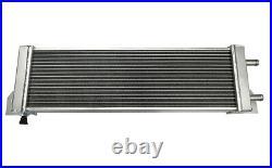 Universal Air to Water Intercooler Aluminum Radiator Liquid Heat Exchanger Silve