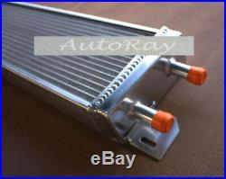 Universal Aluminum Air to Water Intercooler Liquid Heat Exchange + 27'' Fans
