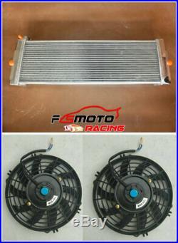 Universal Aluminum Heat Exchanger Air to Water Intercooler Radiator + FANS