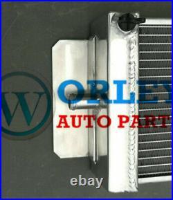 Universal Aluminum Liquid Heat Exchanger Air to Water Intercooler Radiator + Fan