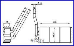 Wärmetauscher, Innenraumheizung NRF 54264
